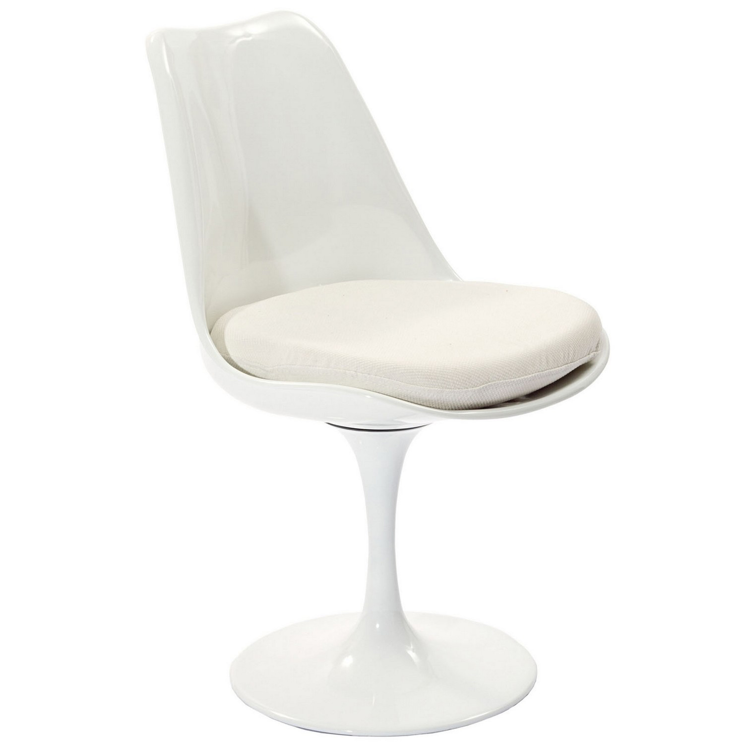 Modway Lippa Dining Fabric Side Chair - White