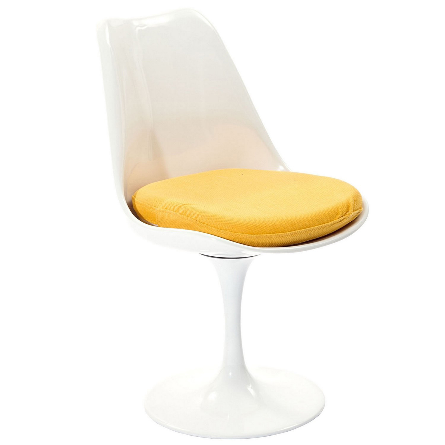 Modway Lippa Dining Fabric Side Chair - Yellow