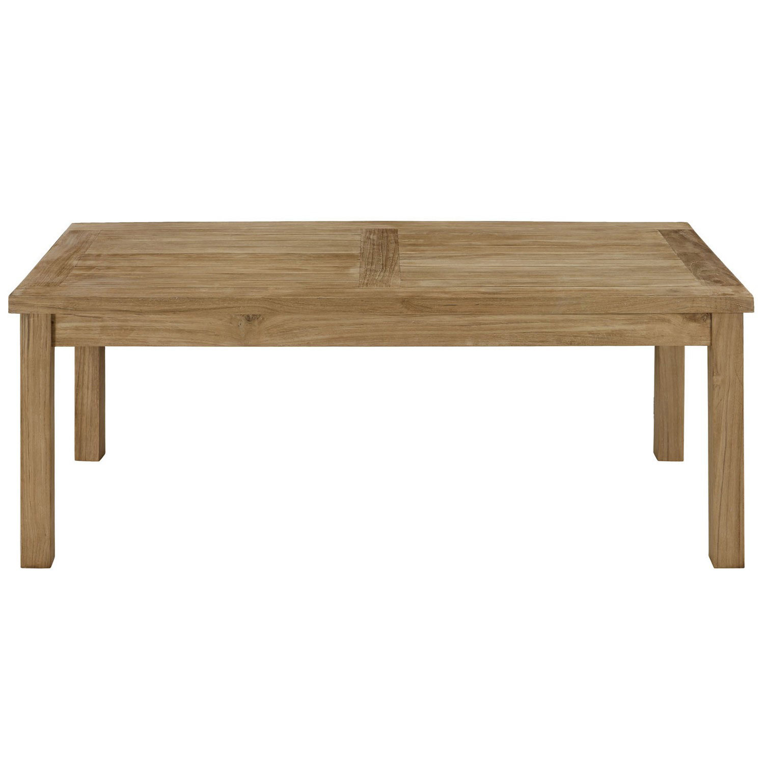Modway Marina Outdoor Patio Teak Rectangle Coffee Table - Natural