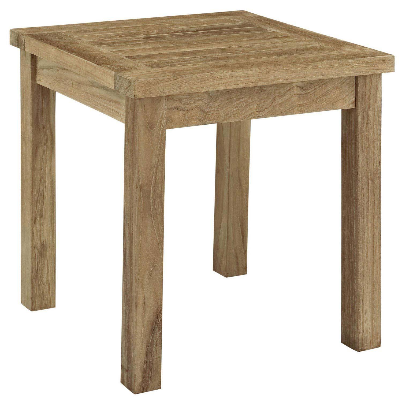 Modway Marina Outdoor Patio Teak Side Table - Natural