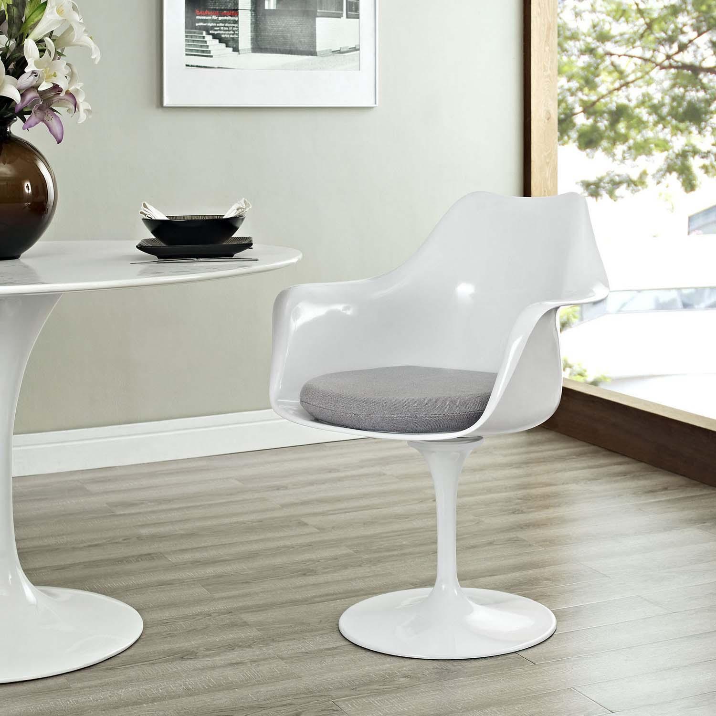 Modway Lippa Dining Fabric Armchair - Gray