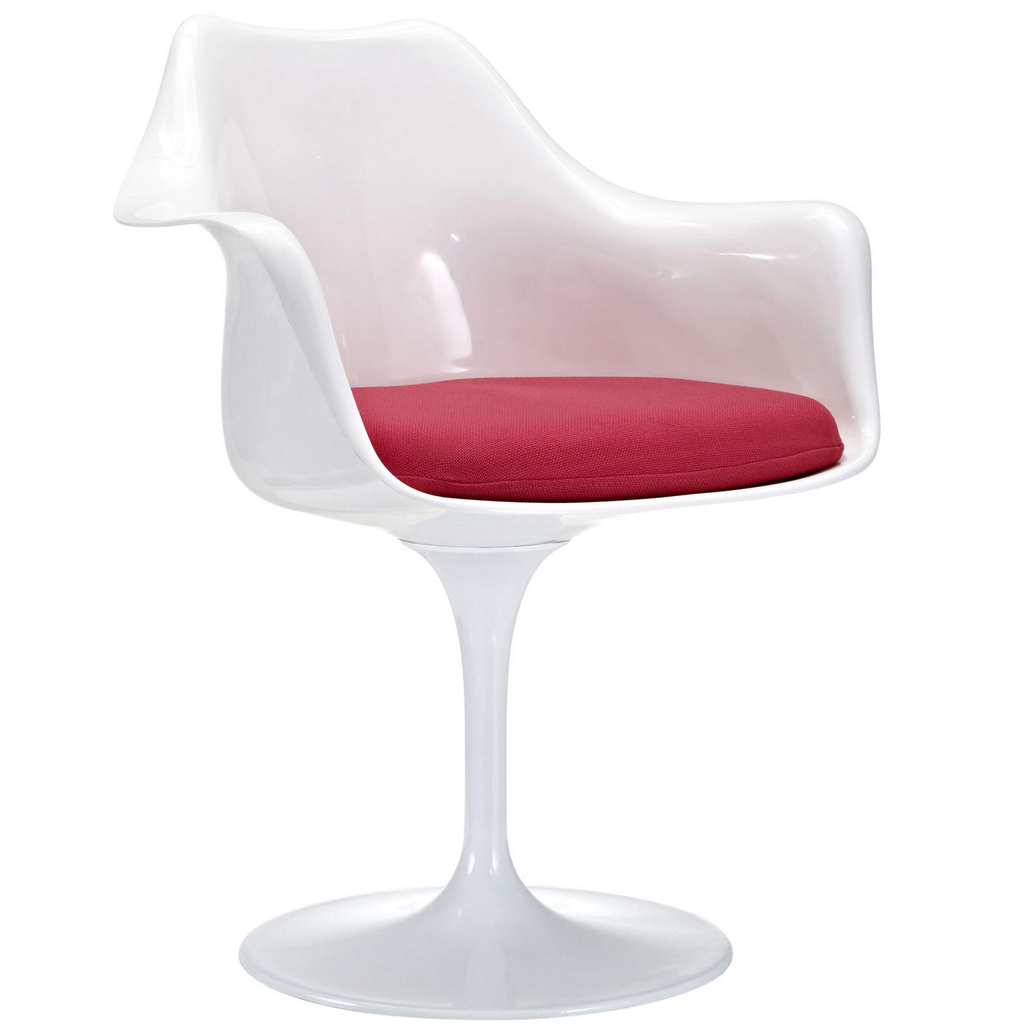 Modway Lippa Dining Fabric Armchair - Red