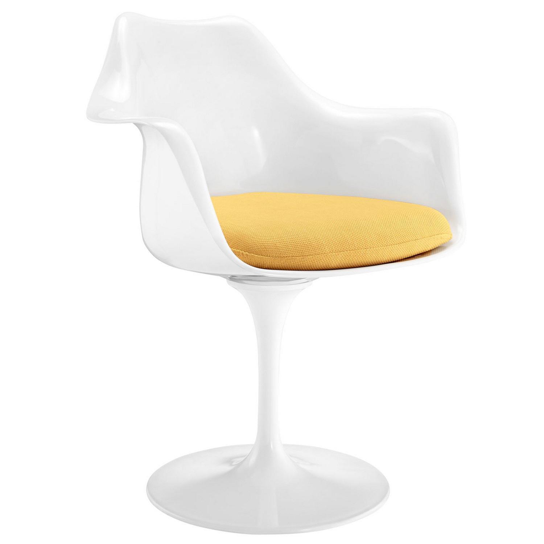 Modway Lippa Dining Fabric Armchair - Yellow