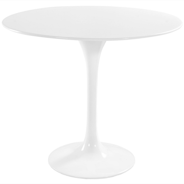 Modway Lippa 36 Fiberglass Dining Table - White