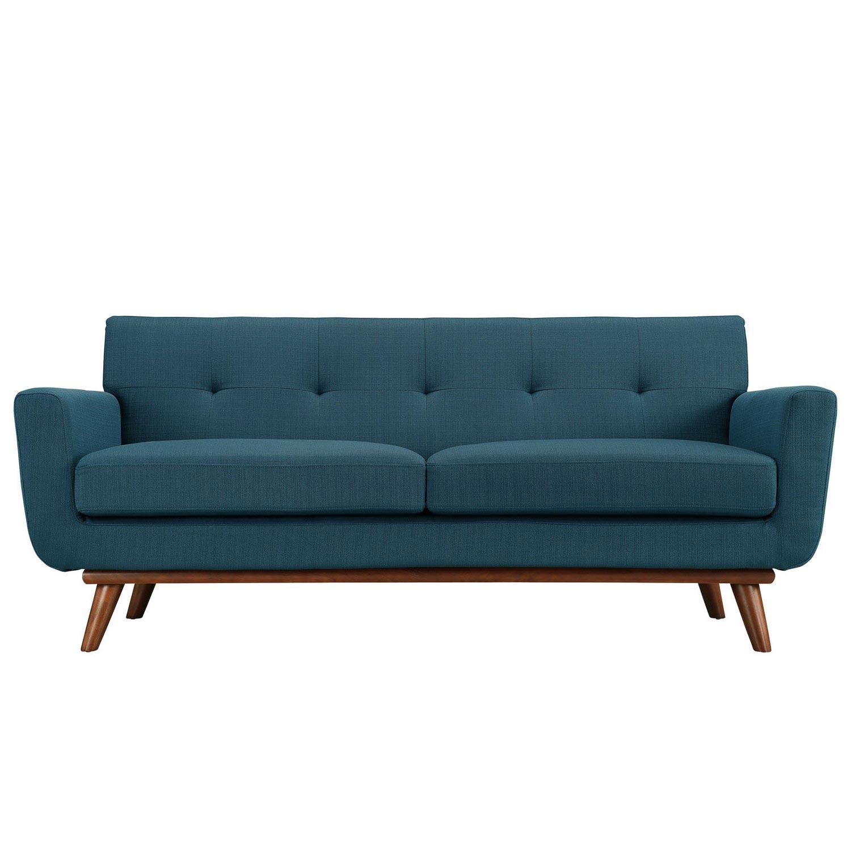 Modway Engage Upholstered Loveseat - Azure