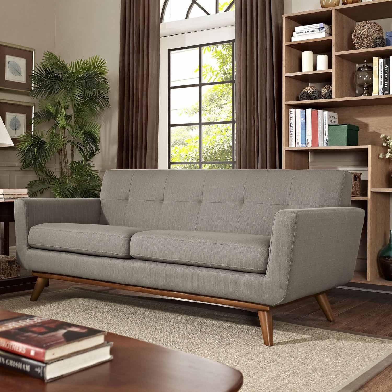 Modway Engage Upholstered Loveseat - Granite