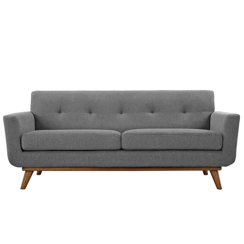 Modway Engage Upholstered Loveseat - Expectation Gray
