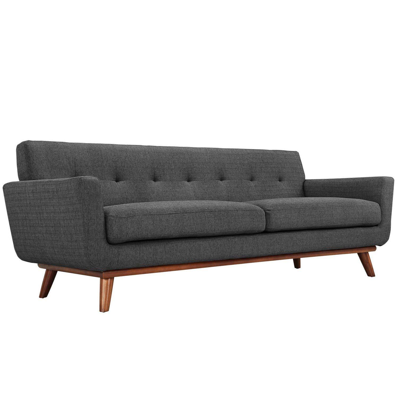 Modway Engage Upholstered Sofa - Gray