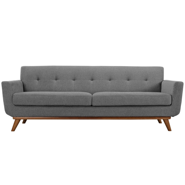 Modway Engage Upholstered Sofa - Expectation Gray