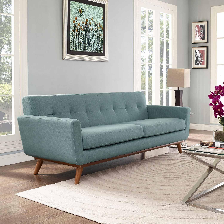Captivating Modway Engage Upholstered Sofa   Laguna