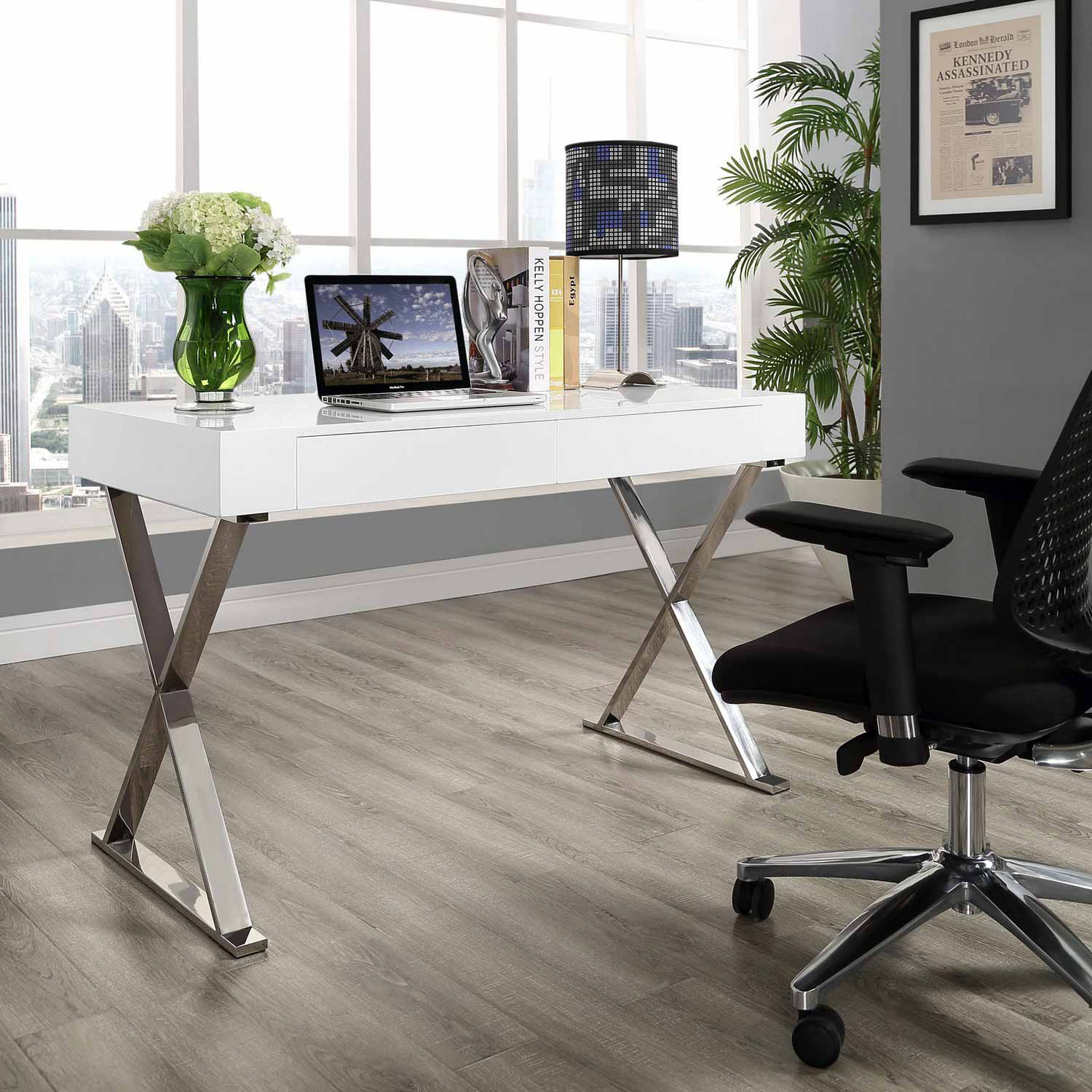 Modway Sector Office Desk - White