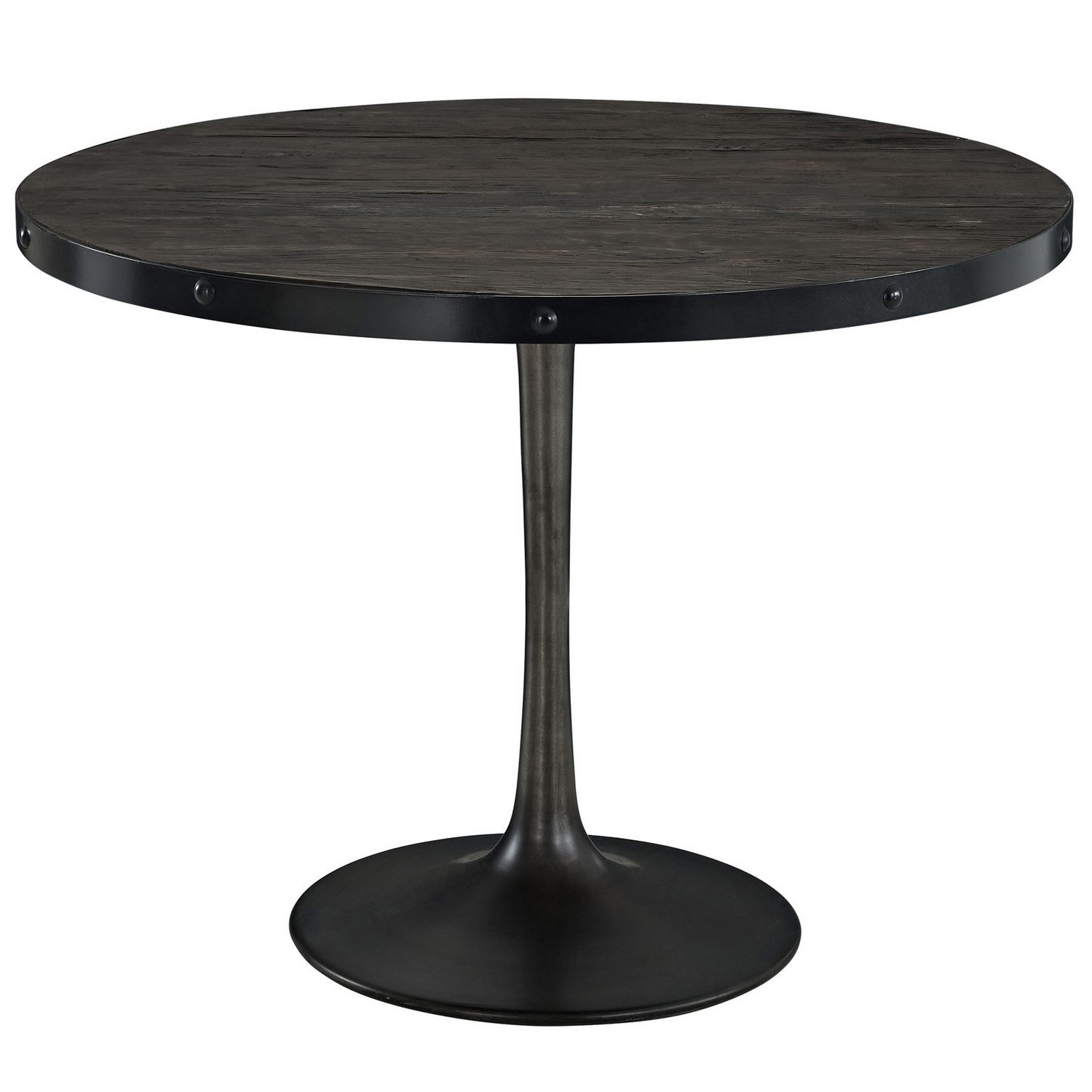 Modway Drive Wood Top Dining Table - Black