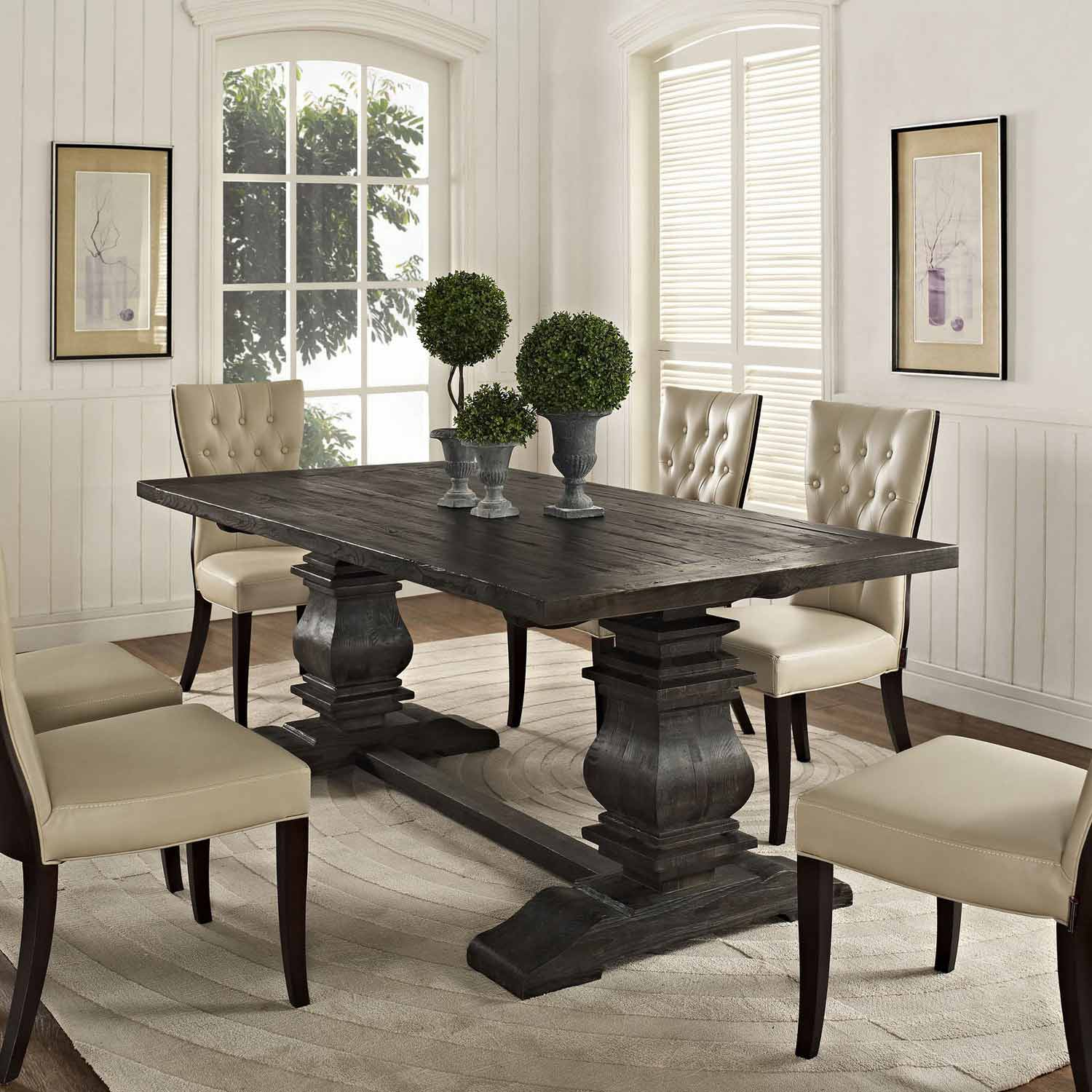 Dining Wood Table: Modway Column Wood Dining Table