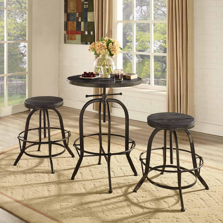 Modway Sylvan Wood Top Bar Table - Black
