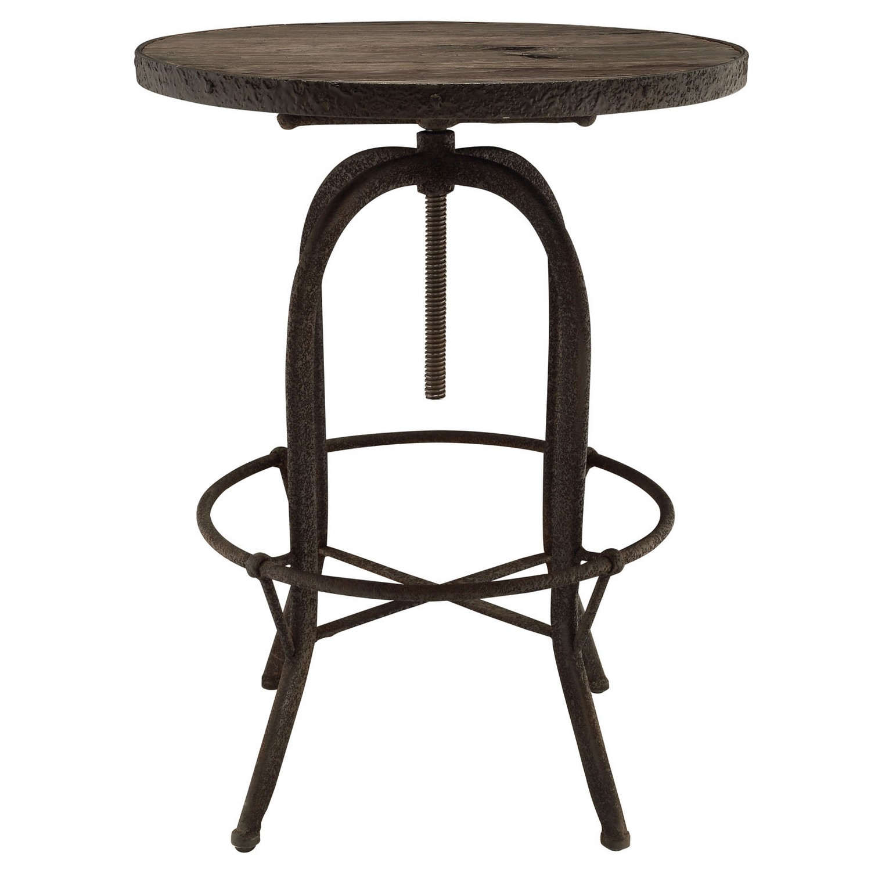 Modway Sylvan Wood Top Bar Table - Brown