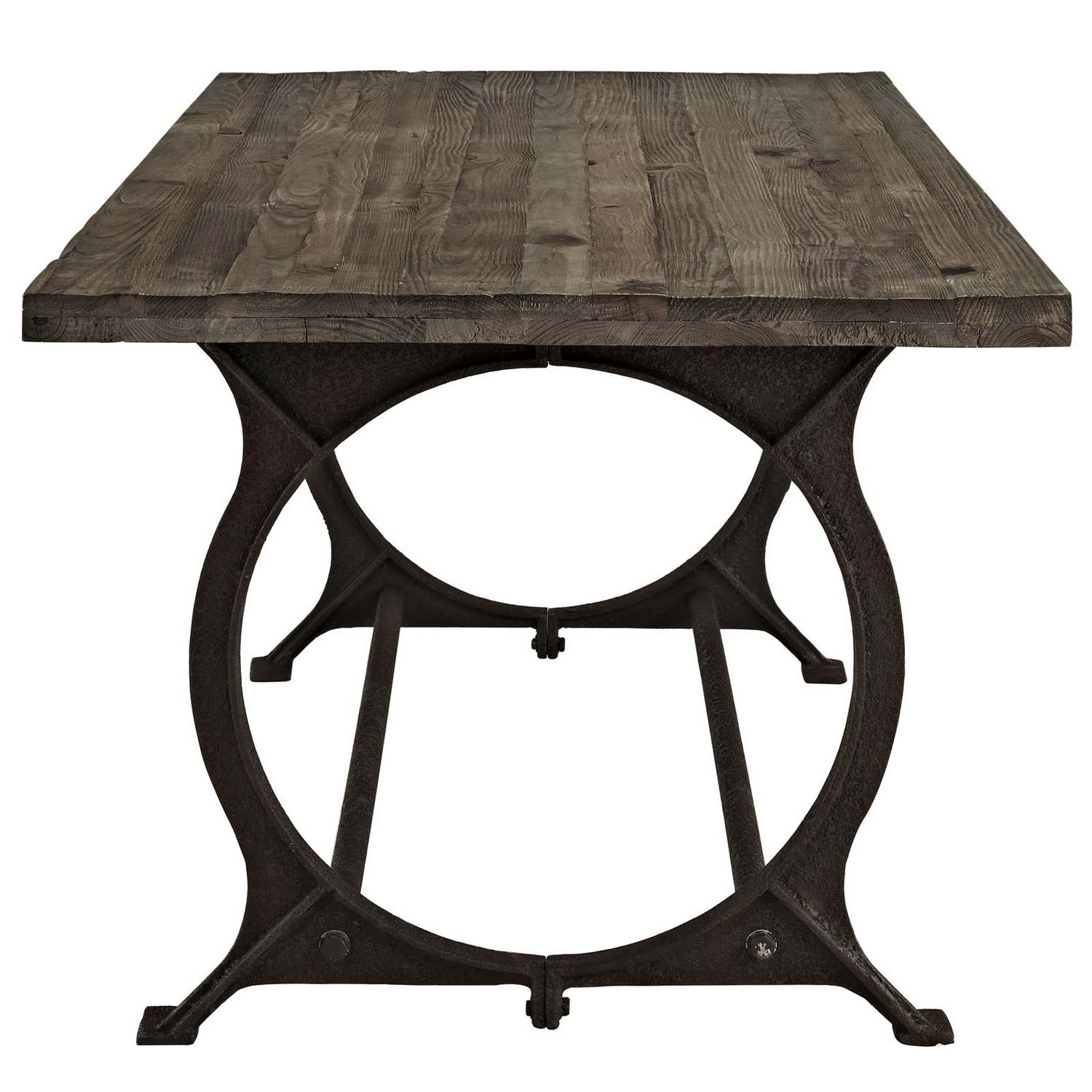 Modway Effuse Wood Top Dining Table - Brown