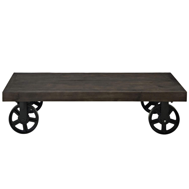 Modway Garrison Wood Top Coffee Table - Black