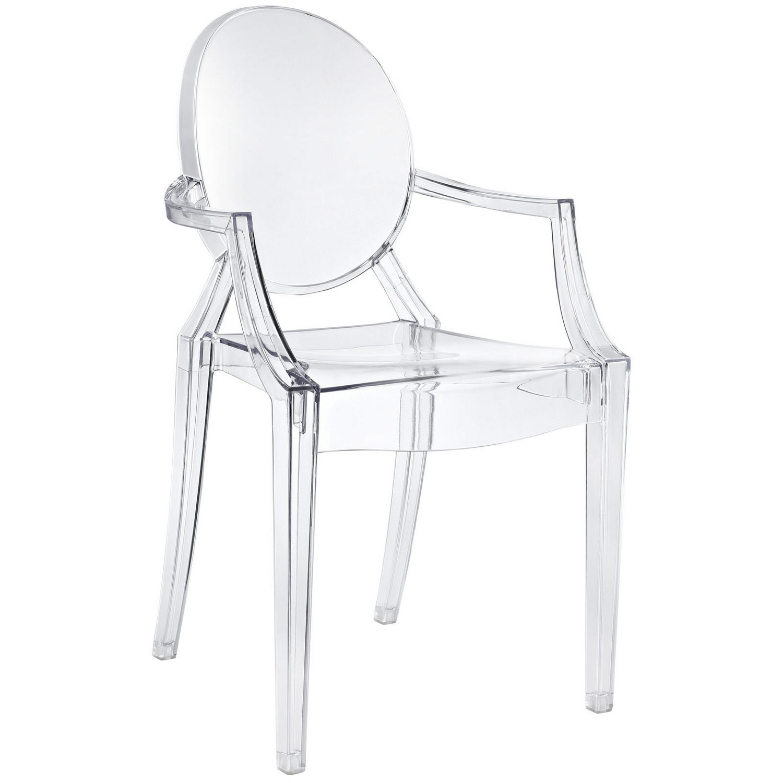 Modway Casper Dining Armchair - Clear