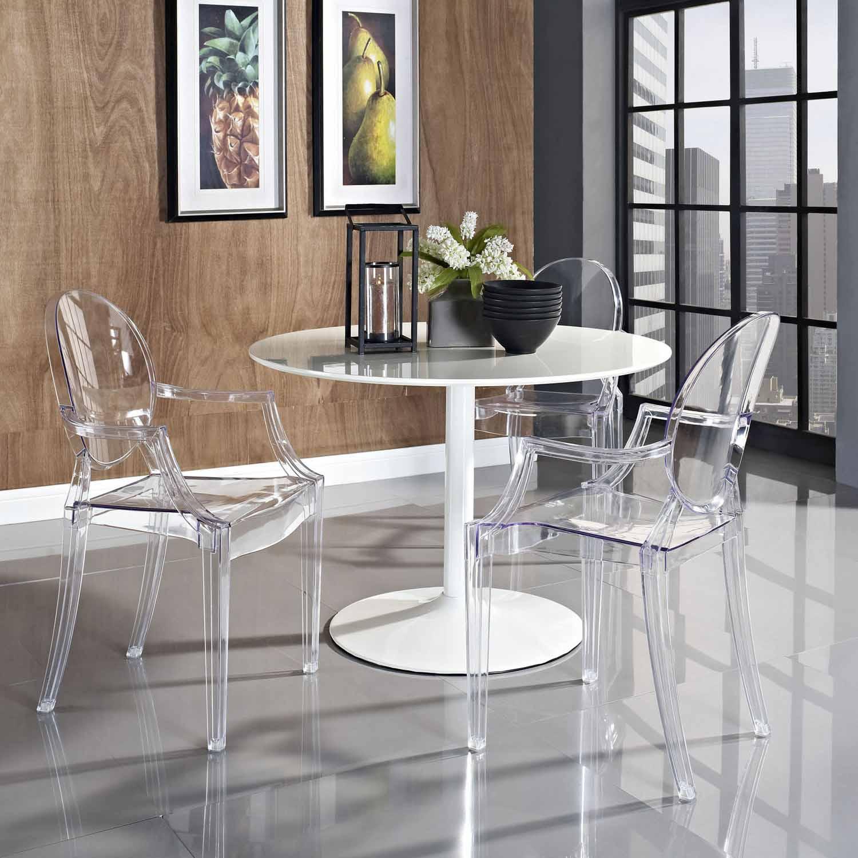 Modway Casper Dining Armchair   Clear