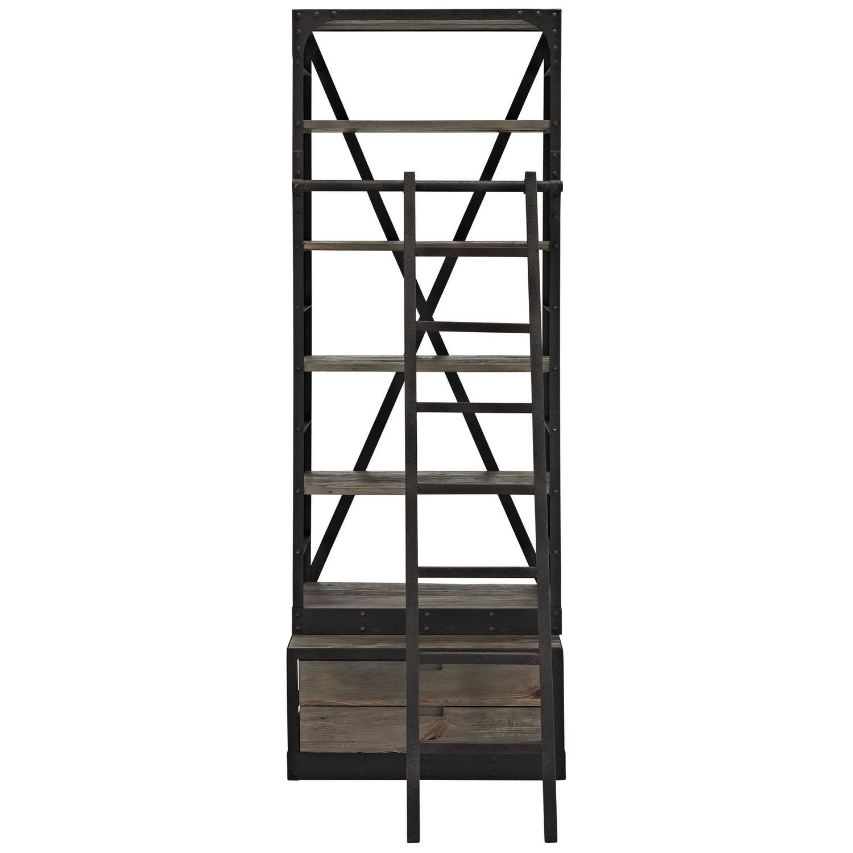 Modway Velocity Wood Bookshelf - Brown