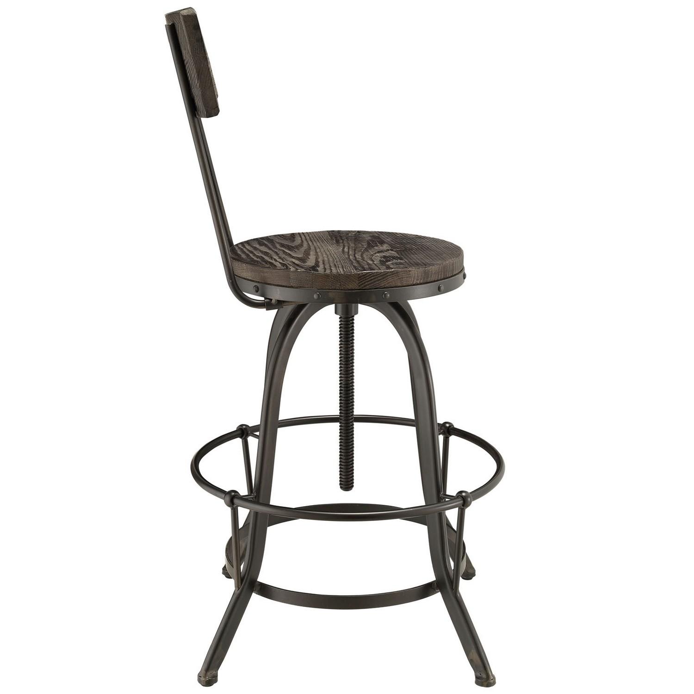 Modway Procure Wood Bar Stool - Black