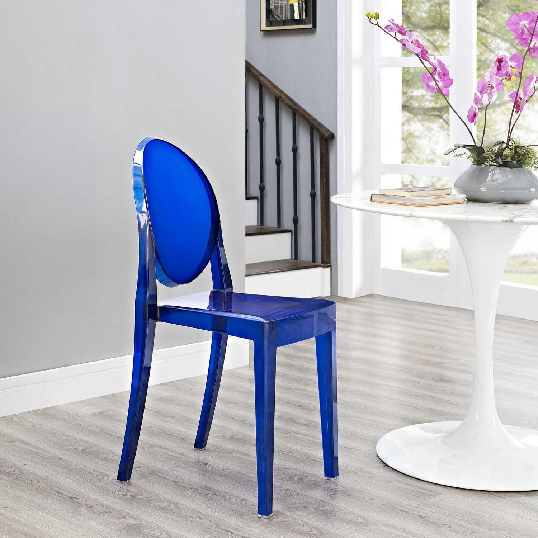 Modway Casper Dining Side Chair Blue