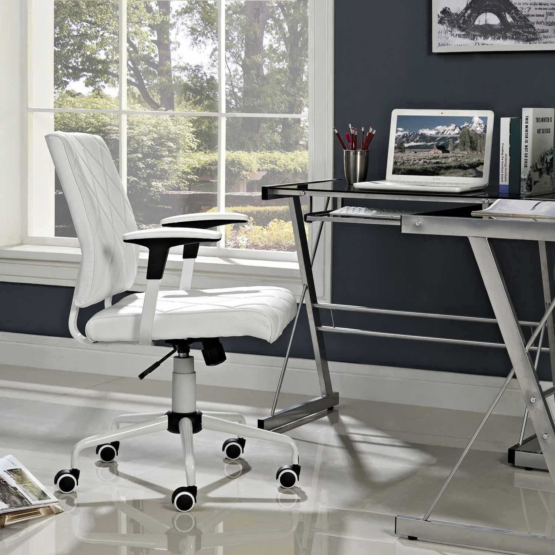 Modway Lattice Vinyl Office Chair - White