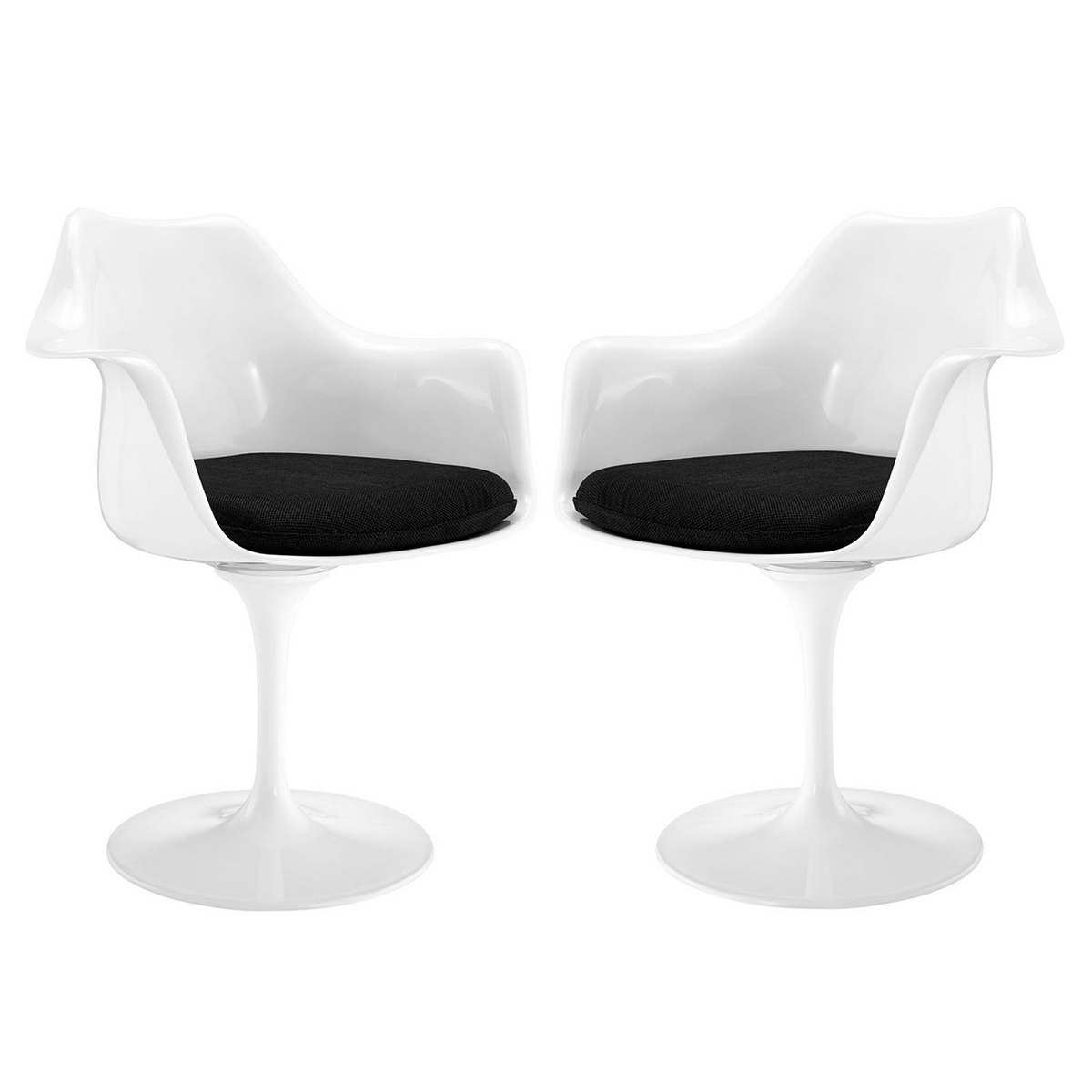 Modway Lippa Dining Armchair Set of 2 - Black