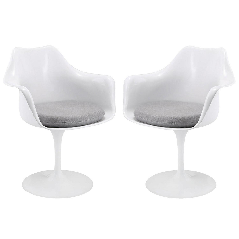 Modway Lippa Dining Armchair Set of 2 - Gray