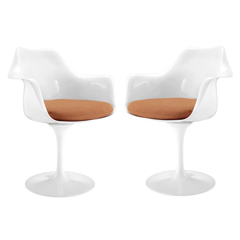 Modway Lippa Dining Armchair Set of 2 - Orange