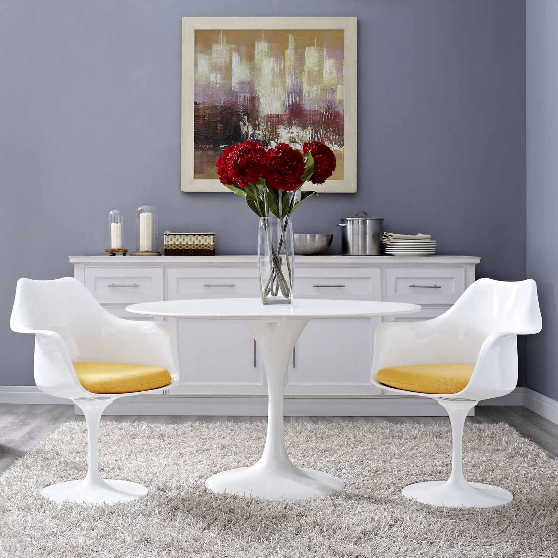 Modway Lippa Dining Armchair Set of 2 - Yellow