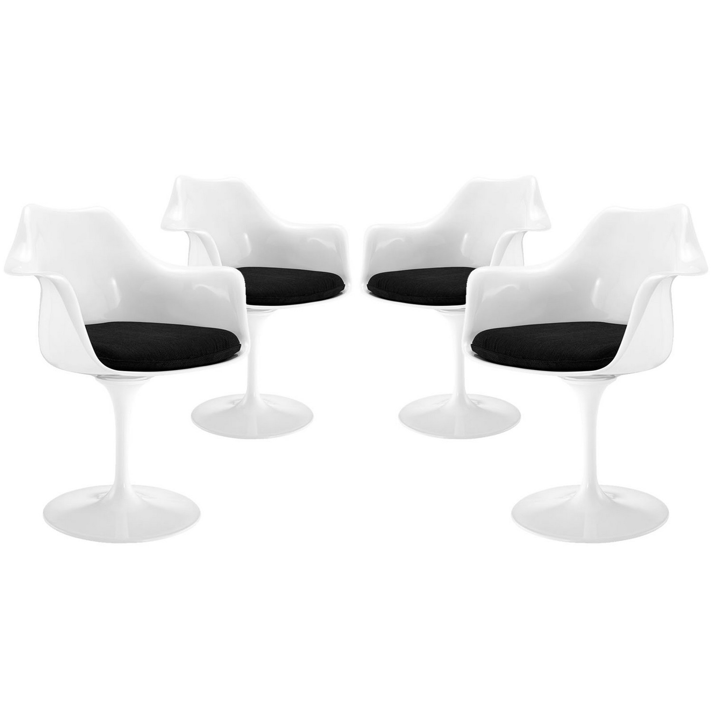 Modway Lippa Dining Armchair Set of 4 - Black
