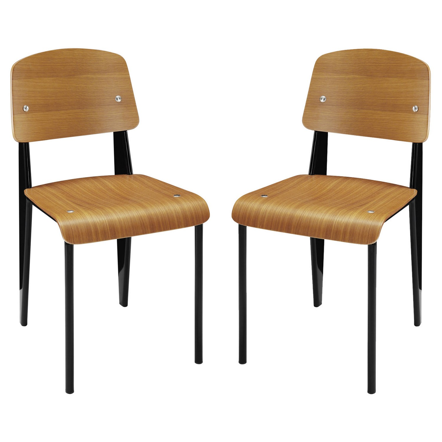 Modway Cabin Dining Side Chair Set of 2 - Walnut