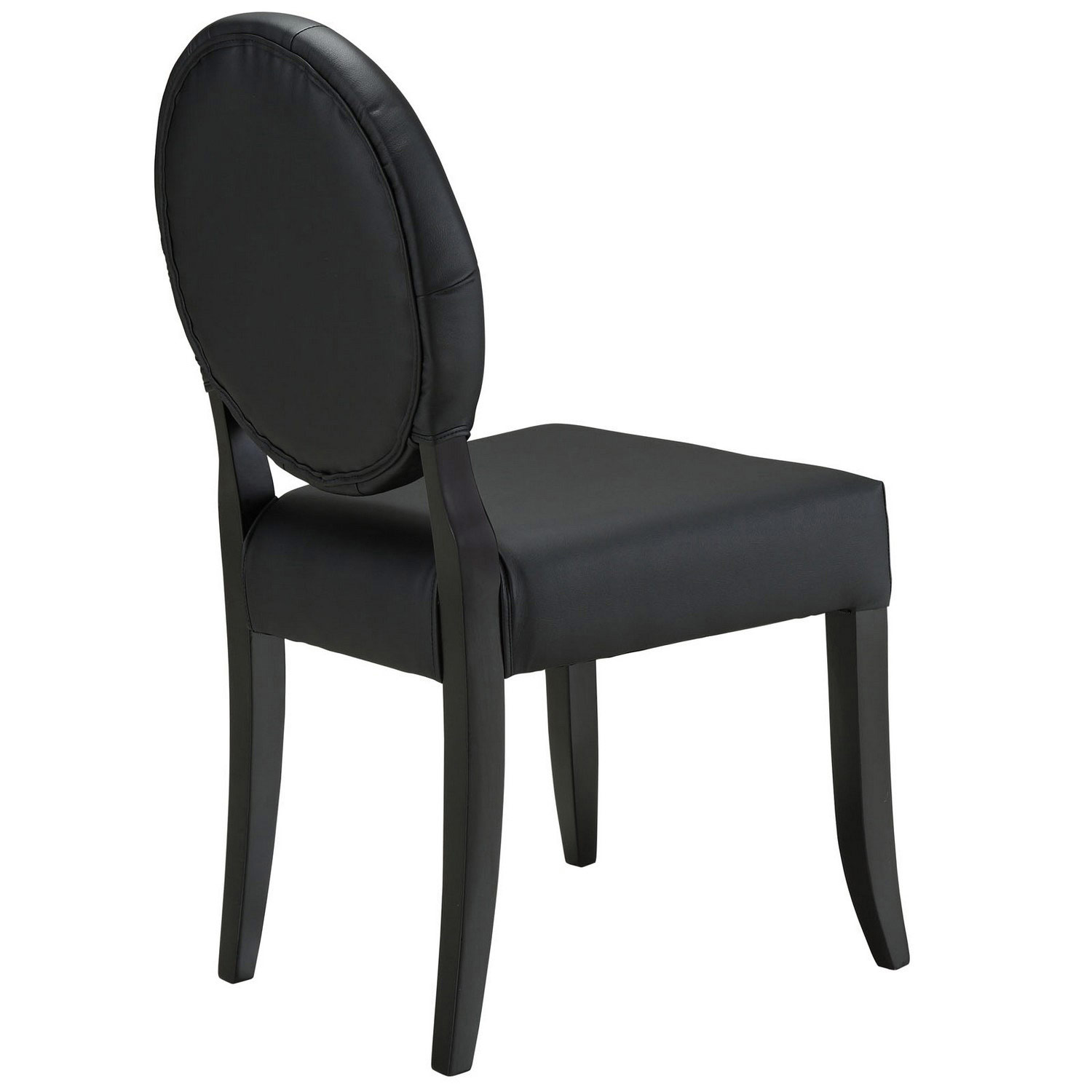 Modway Button Dining Side Chair Set of 4 - Black