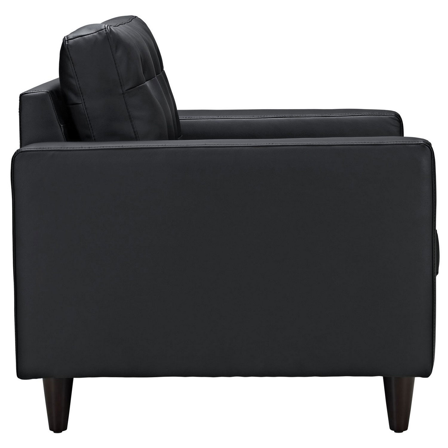 Modway Empress Armchair Leather Set of 2 - Black