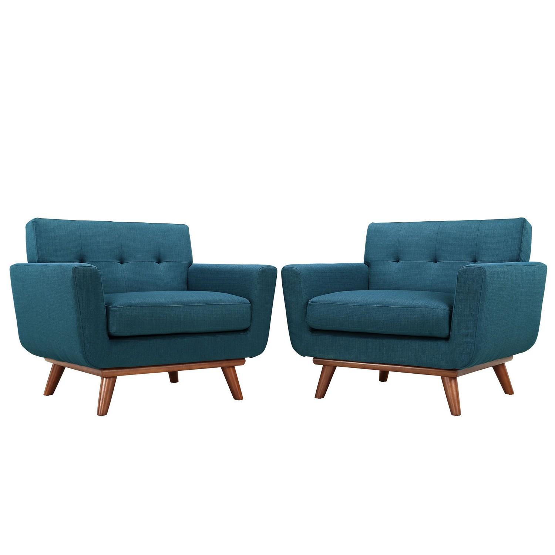 Modway Engage Armchair Wood Set of 2 - Azure