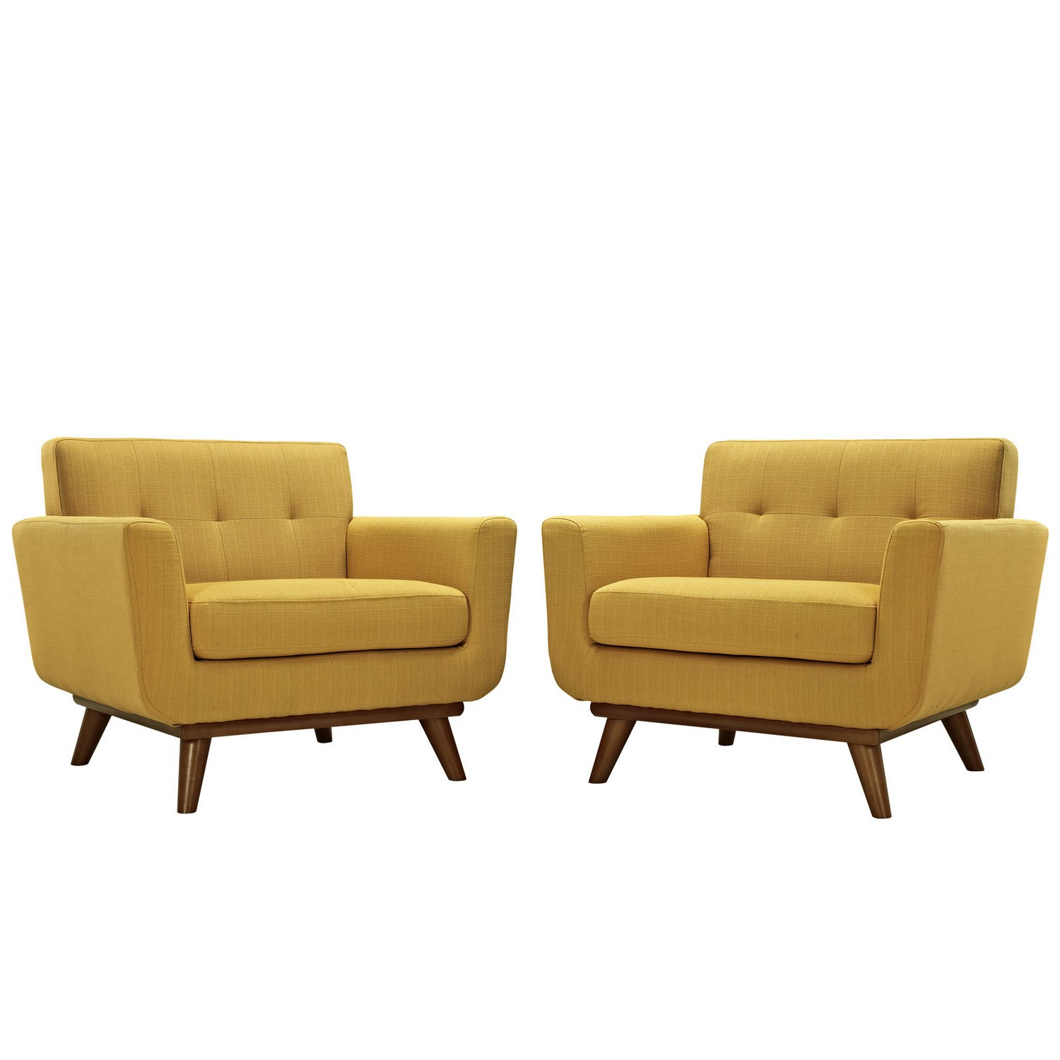 Modway Engage Armchair Wood Set of 2 - Citrus