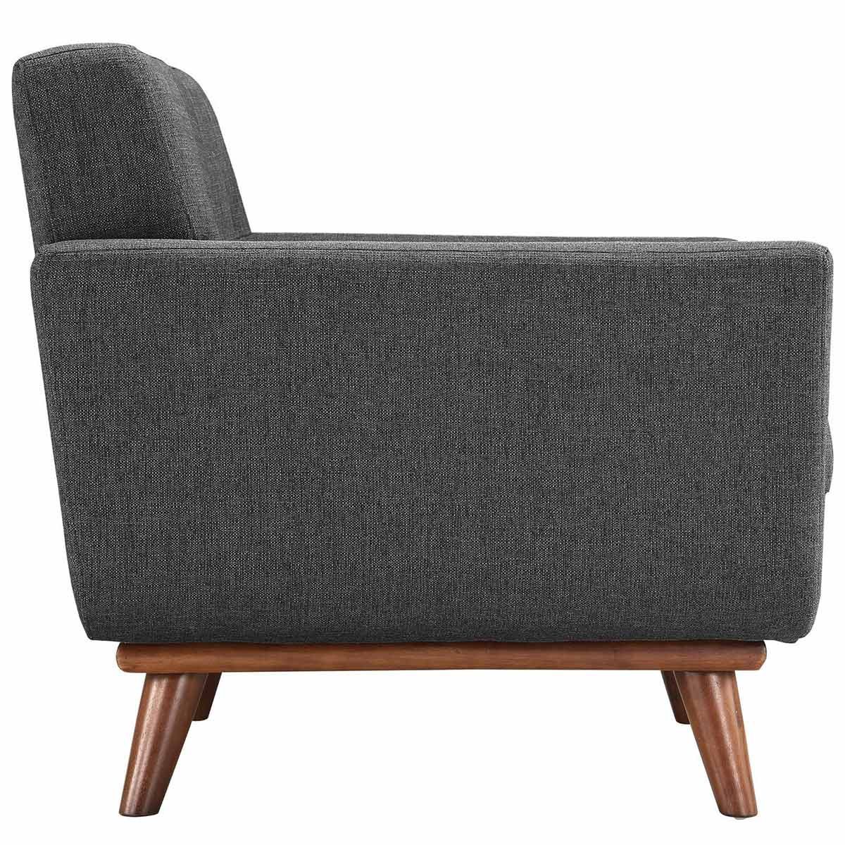 Modway Engage Armchair Wood Set of 2 - Gray
