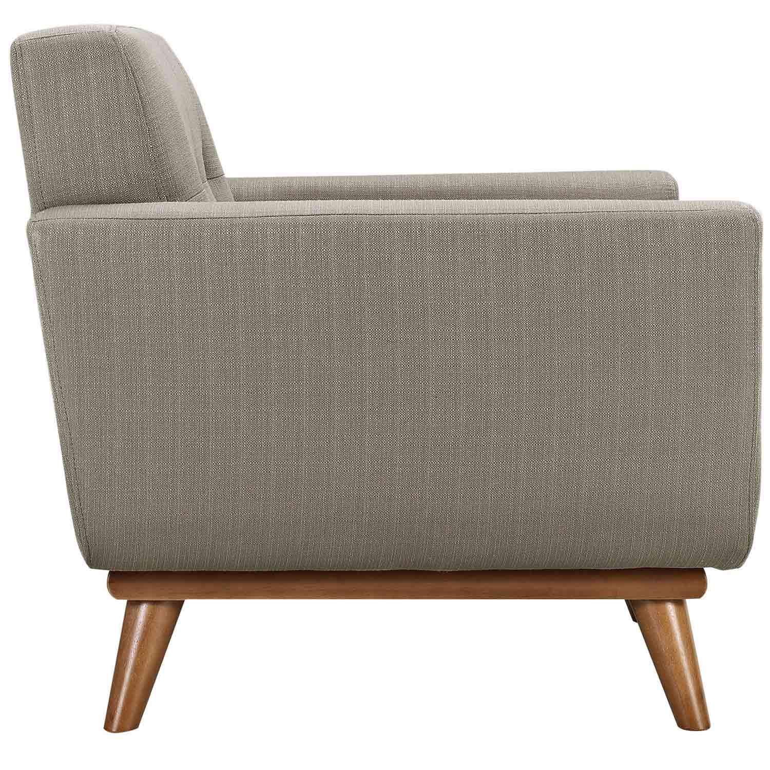 Modway Engage Armchair Wood Set of 2 - Granite