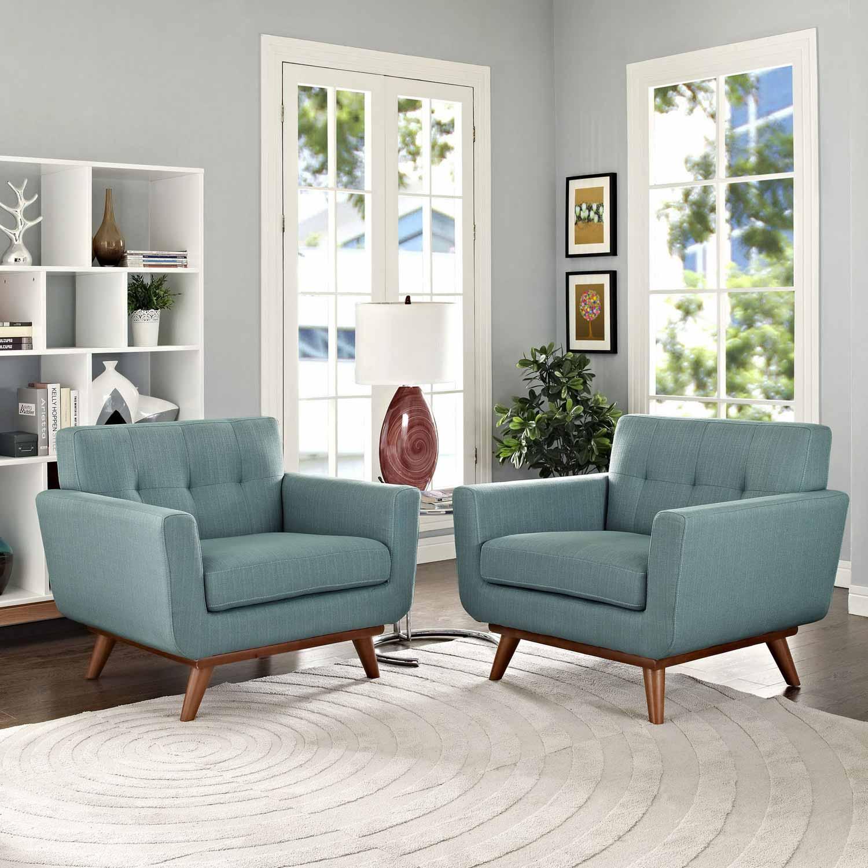 Modway Engage Armchair Wood Set of 2 - Laguna