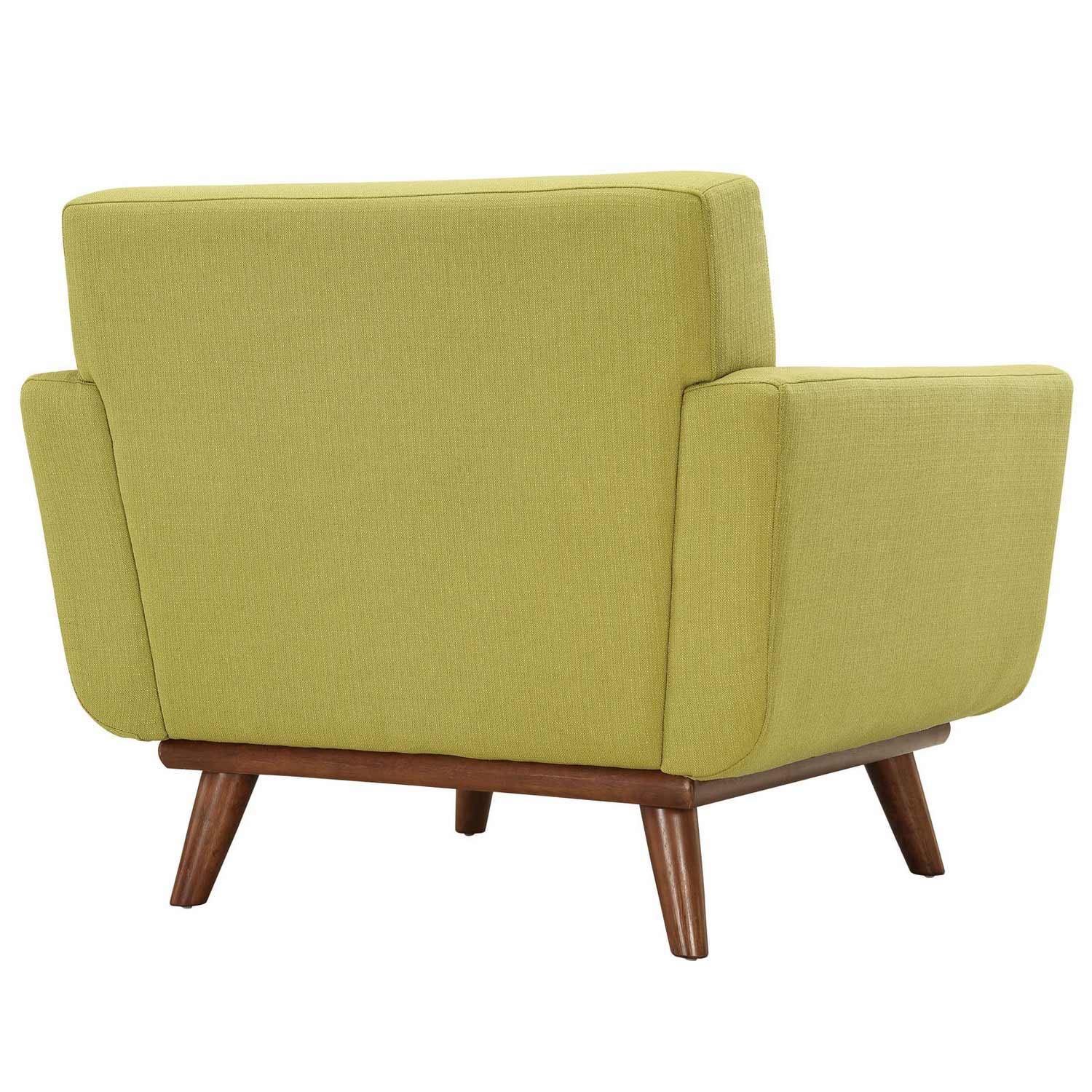 Modway Engage Armchair Wood Set of 2 - Wheatgrass