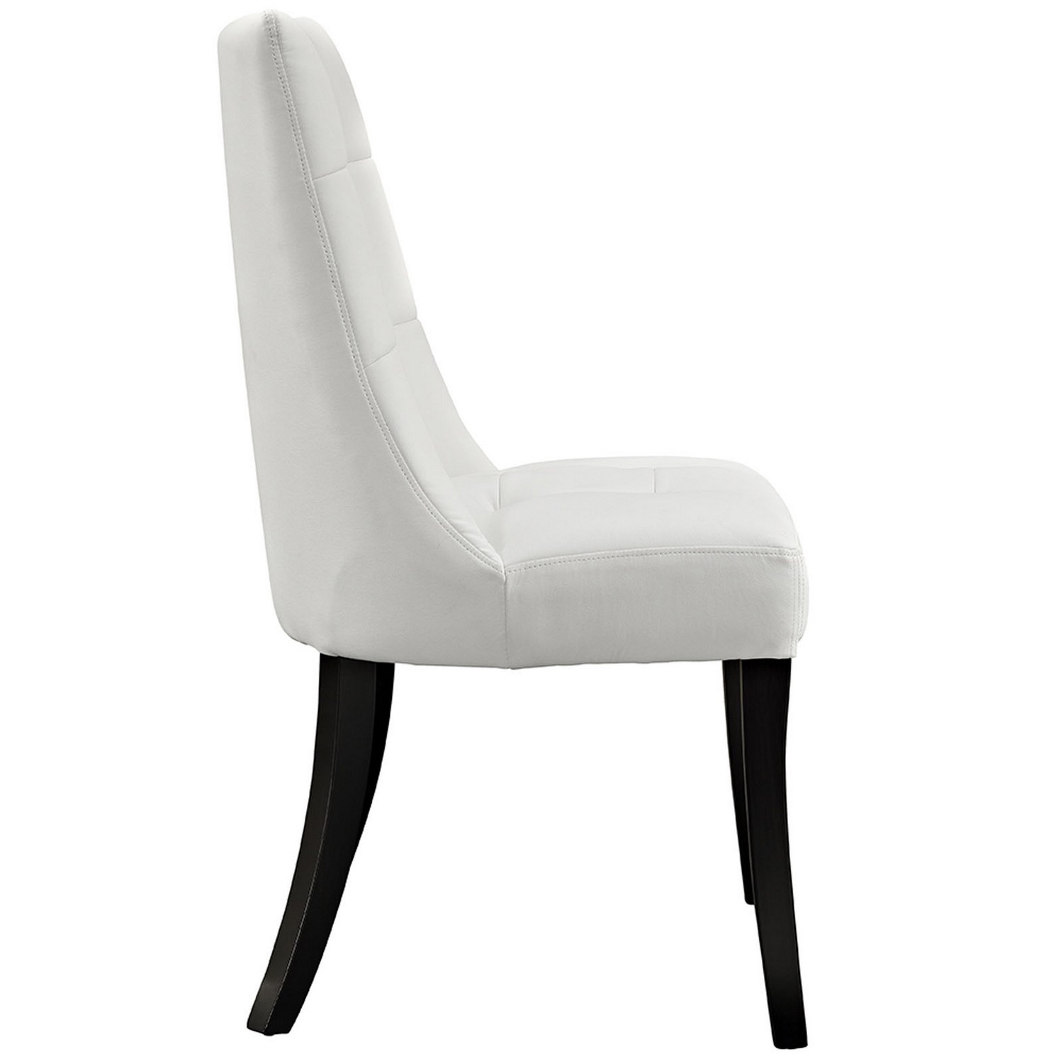 Modway Noblesse Vinyl Dining Chair Set of 2 - White