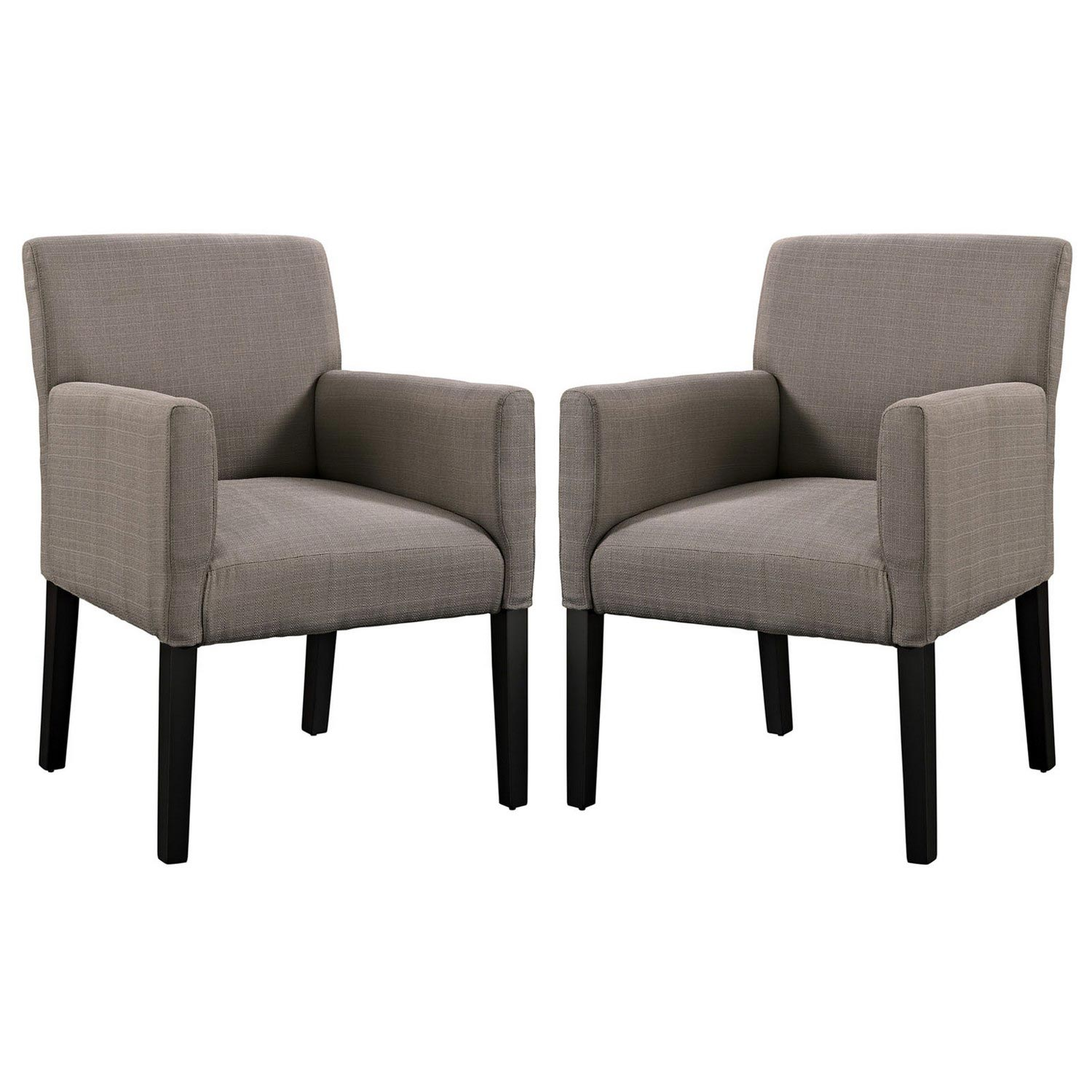 Modway Chloe Armchair Set of 2 - Gray