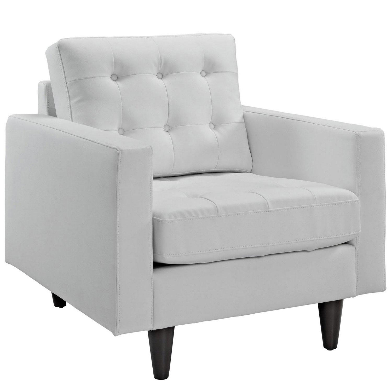 Modway Empress 2PC Sofa and Armchair Set - White