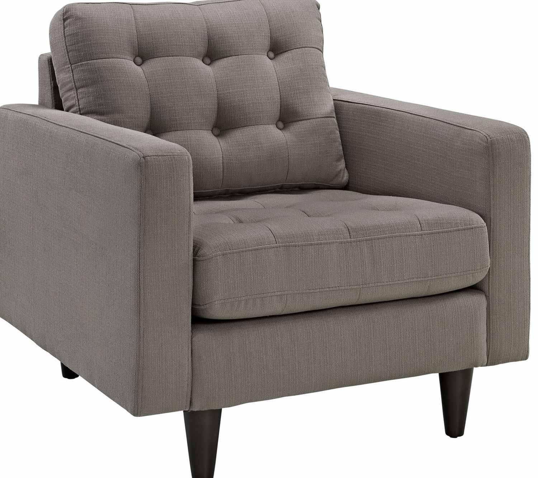 MW-EEI-1313-GRA Empress 2PC Armchair and Sofa Set - Granite,