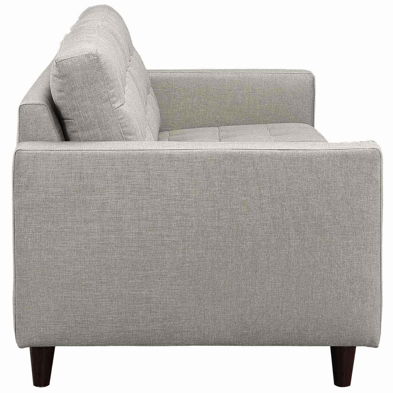 Modway Empress 2PC Armchair and Sofa Set - Light Gray