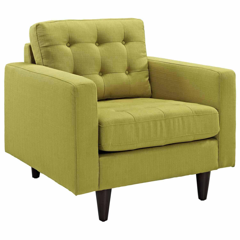 Modway Empress 2PC Armchair and Sofa Set - Wheatgrass