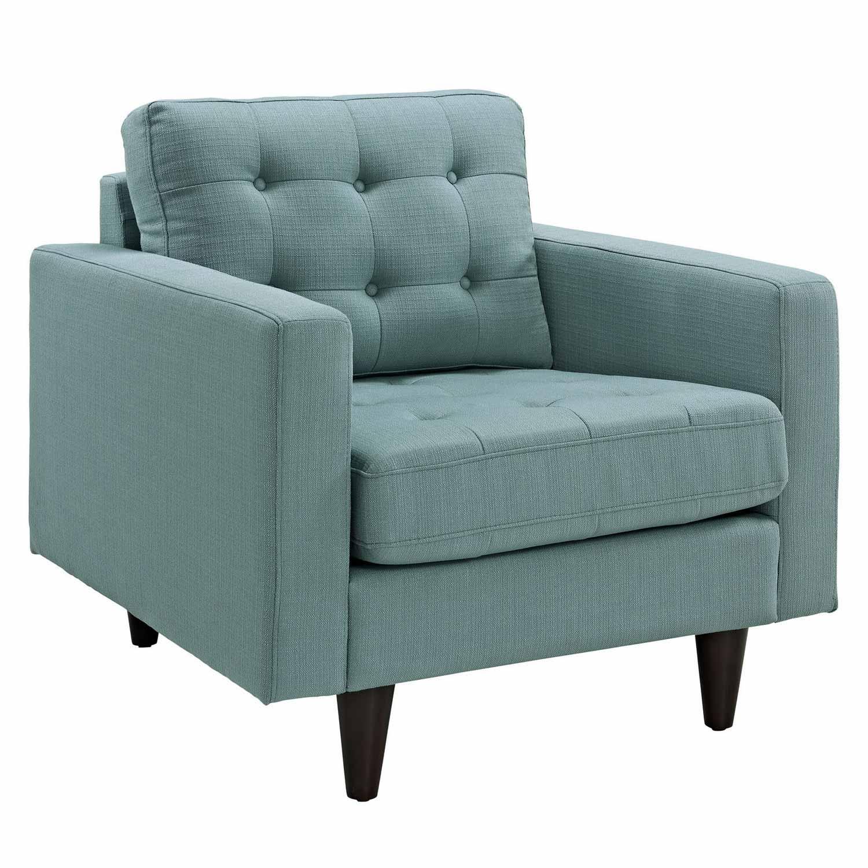 Modway Empress 3PC Sofa and Armchairs Set - Laguna