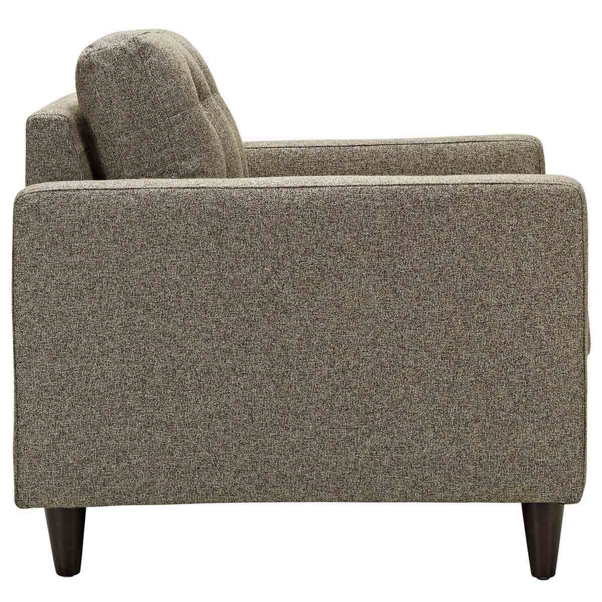 Modway Empress 3PC Sofa and Armchairs Set - Oatmeal