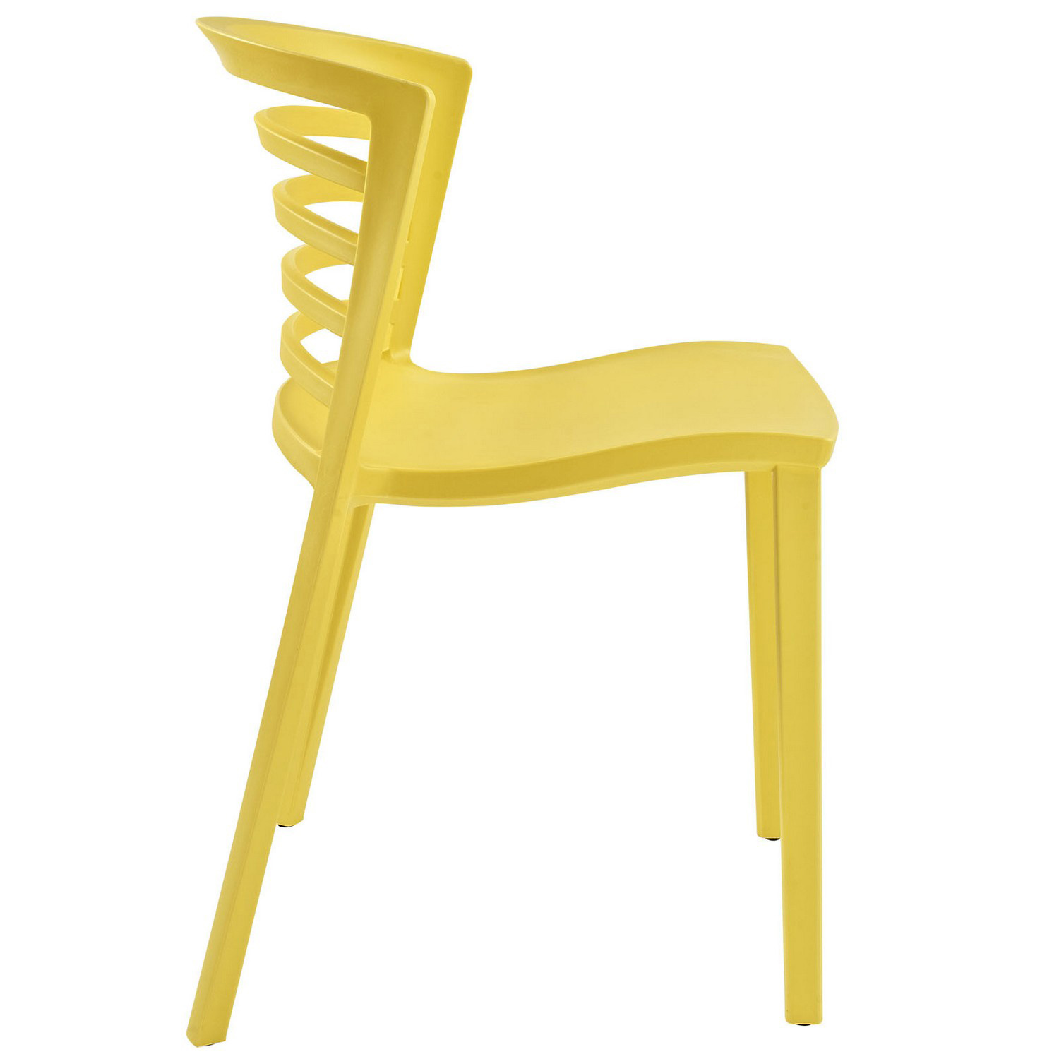 Modway Curvy 4PC Dining Chairs Set - Yellow